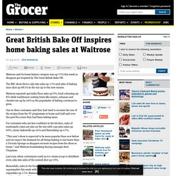 Great British Bake Off inspires home baking sales at Waitrose