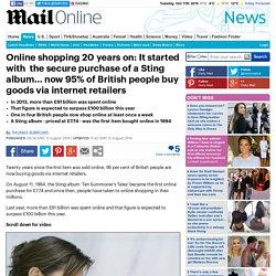 95% of British people buy goods via internet retailers