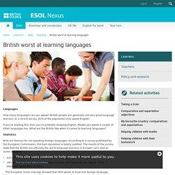 British worst at learning languages