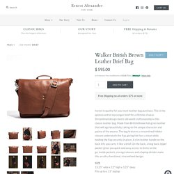 Walker British Brown Leather Brief Bag – Ernest Alexander