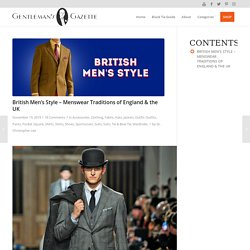 British Men's Style - Menswear Traditions of England & the UK