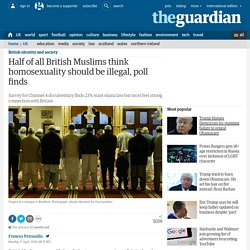 Half of all British Muslims think homosexuality should be illegal, poll finds