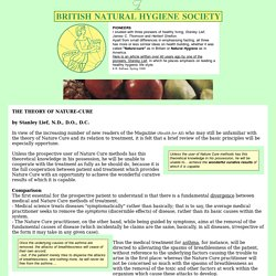 British Natural Hygiene Society - The Theory of Nature Cure