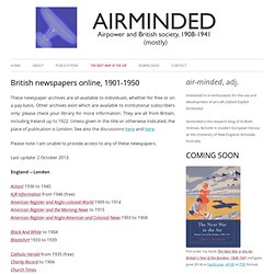 British newspapers online, 1901-1950