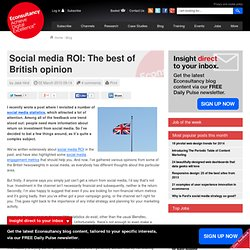 Social media ROI: The best of British opinion