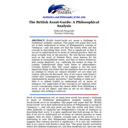 The British Avant-Garde: A Philosophical Analysis