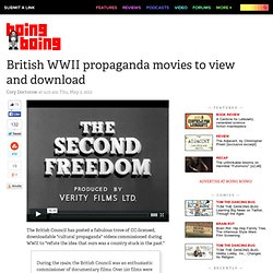 British WWII propaganda movies to view and download