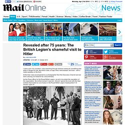 Royal British Legion's shameful Hitler visit revealed after 75 years