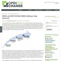 NGOs and IATI: British NGOs