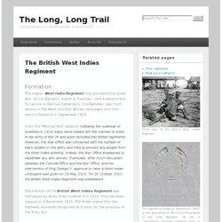 The British West Indies Regiment in 1914-1918