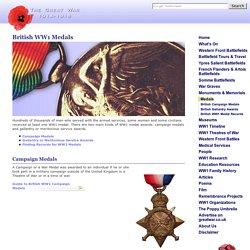 British WW1 Medals