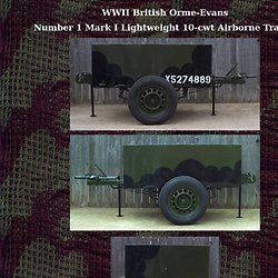 British WWII Airborne Jeep Trailer
