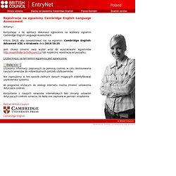 EntryNet - rejestracja na egzaminy