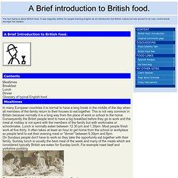 Britsh food.