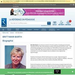 Britt-Mari Barth, biographie et bibliographie