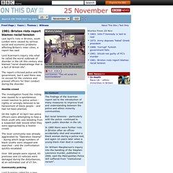 1981: Brixton riots report blames racial tension