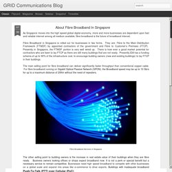 GRID Communications Blog: About Fibre Broadband In Singapore