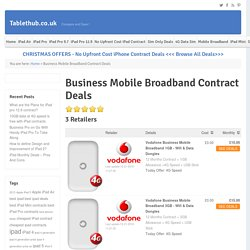 Mobile Broadband Contract deals - Vodafone Unlimited Data