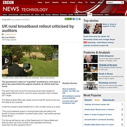 UK rural broadband rollout criticised by auditors