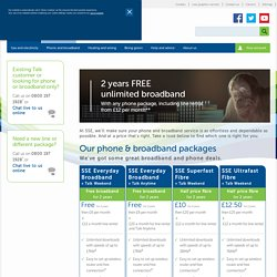 Phone and broadband products - Southern Electric