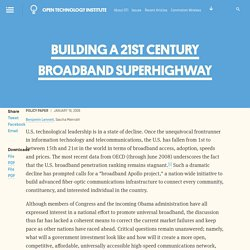 Building a 21st Century Broadband Superhighway