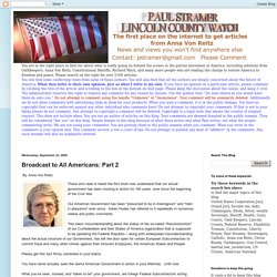 Broadcast to All Americans: Part 2
