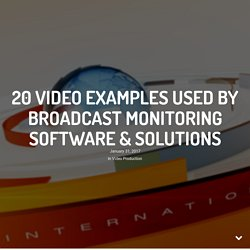 Broadcast Monitoring Software & Solutions