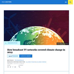 How broadcast TV networks covered climate change in 2019