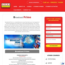 Broadcast Training Institute in Kolkata