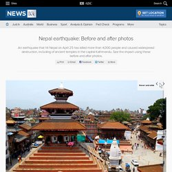 Nepal earthquake: Before and after photos