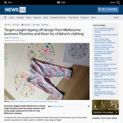 Target caught ripping off design from Melbourne business Peaches and Keen for children's clothing