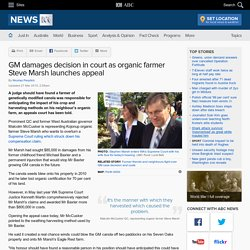 GM damages decision in court as organic farmer Steve Marsh launches appeal