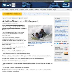 Abbott surf lesson no political wipeout