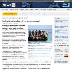 Malaysia defends asylum seeker record