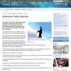 ABC The Drum - Walking the Twitter tightrope