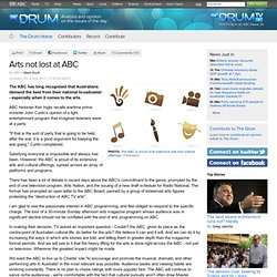 Arts not lost at ABC - The Drum
