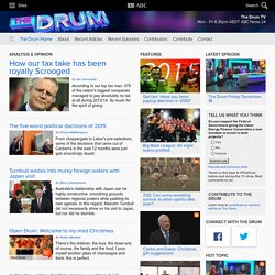 ABC The Drum - Analysis and views on the issues of the day