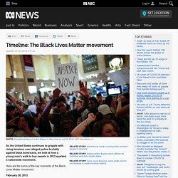 Timeline: The Black Lives Matter movement - ABC News (Australian Broadcasting Corporation)