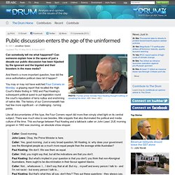 Public discussion enters the age of the uninformed - The Drum