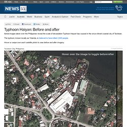 Typhoon Haiyan Before & After