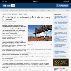 Commodity price crash causing Australian economy to 'unwind'