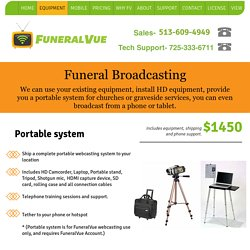 Funeral Home Webcasting Service & Installation