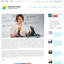 A member of the National Television and Radio Broadcasting Council of Ukraine: Russia is Waging Information War Against Ukraine