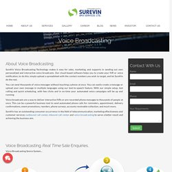 Voice Broadcasting Service