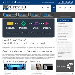 Event Broadcasting and Webcasting services