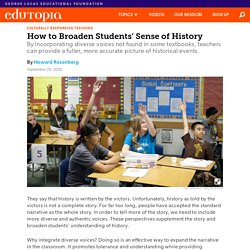 How to Broaden Middle and High School Students' Sense of History