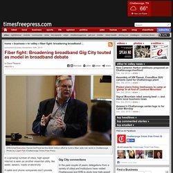 Fiber fight: Broadening broadband Gig City touted as model in broadband debate