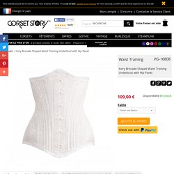 Ivory Brocade Shaped Waist Training Underbust with Hip Panel