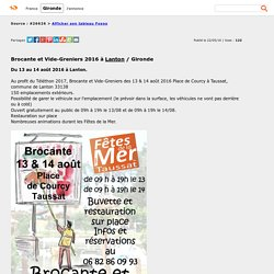 Brocante et Vide-Greniers 2016 à Lanton - Gironde / Foxoo