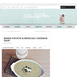 Baked Potato & Broccoli Cheddar Soup